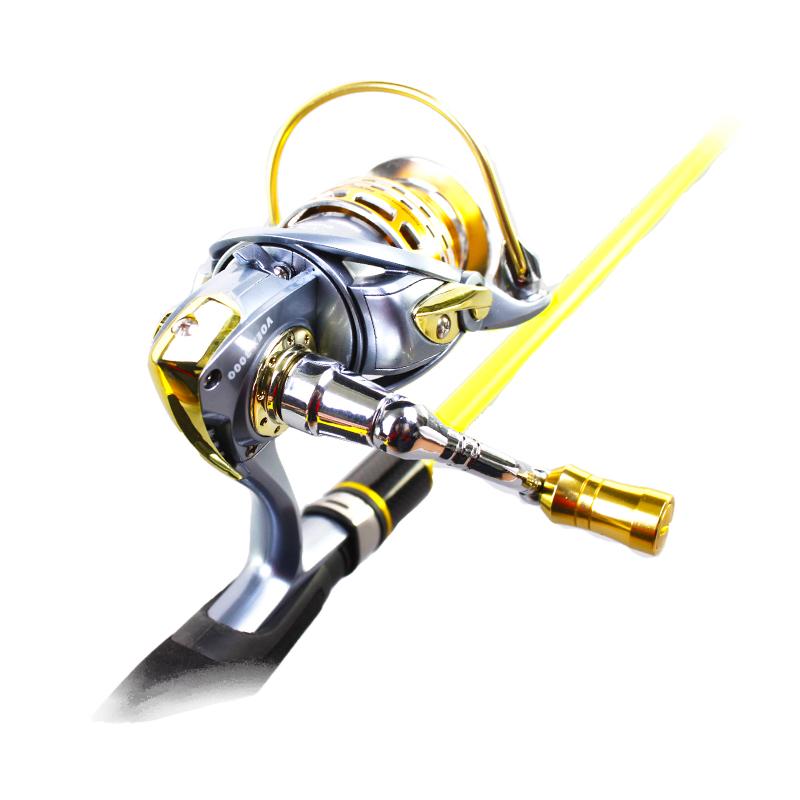 FSPR_SL11F spinning reel metal spool AL CNC 10+1BB, Red / golden