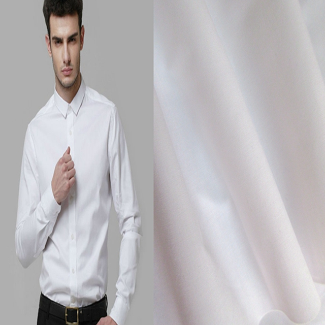 High quality white plain style polyester cotton shirting fabric poplin fabric for shirt