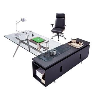 Tempered Glass Office Desk Glass Desk (F 27)