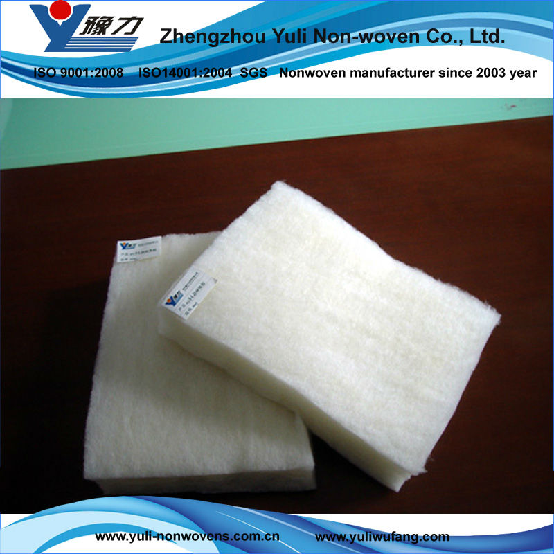 Nonwoven fabric anti-microbial wool batting for quilt batt