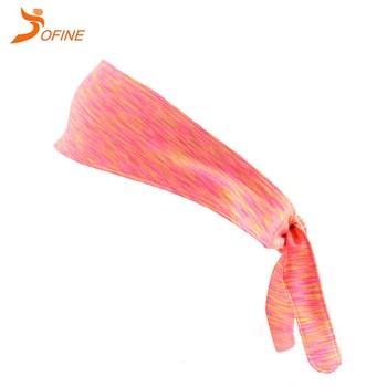 Custom Women Men Dri Fit Elastic Stretchy Adjustable No Slip Athletic  Headband Bandana Hair Head Tie For Yoga Working Out Tennis - Buy Head