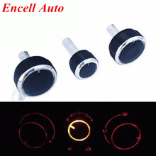3PCS Aluminum Alloy Air Conditioning Knob AC Knob Heat Control Button for volkswagen VW Passat B5 GOLF 4 Bora Auto Accessories