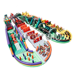 Customized Outdoor Durable Giant Inflatable Obstacle Course Equipment For Adults