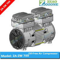 Ozonator machine spare parts oil free low noise air compressor oxygen concentrator compressor