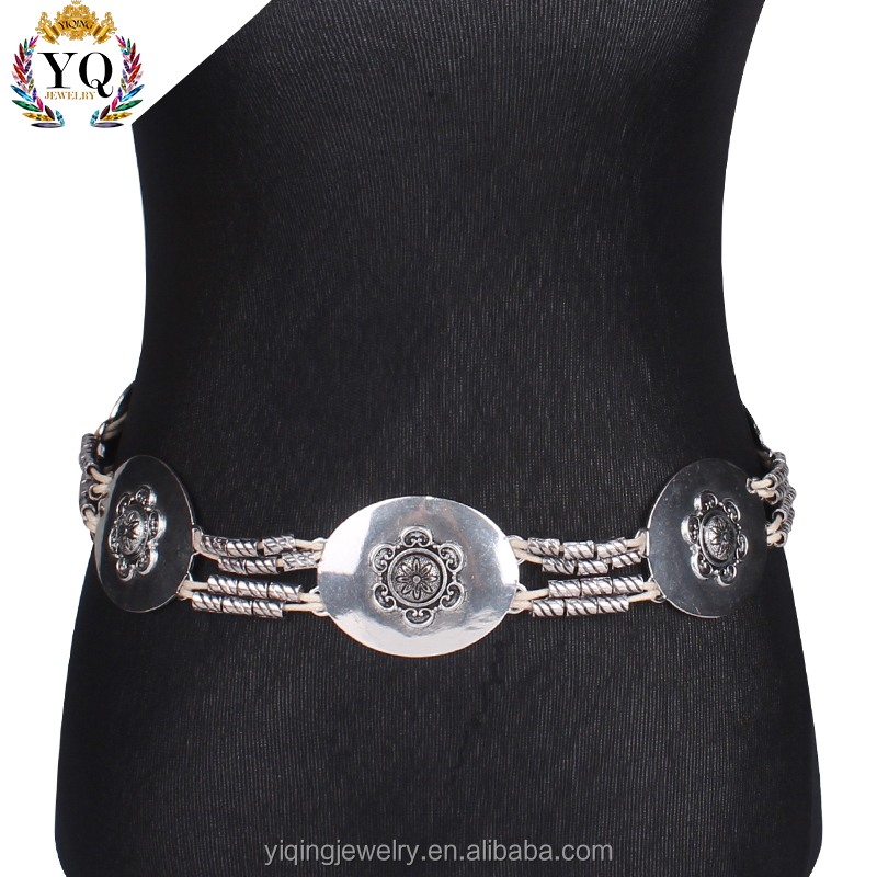 BEYQ-00011 latest design simple sexy silver girls ladies waist chain