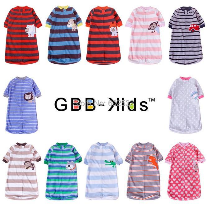 1 шт. розничная новорожденный спальный мешок флиса стиль детские одежда спальные мешки с длинными рукавами ползунки для 0 - 9 м CX
