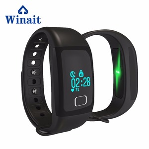 New Arrival T1 Heart Rate Sports Smart Watch Wireless BT 4.0 Sports Bracelet Watch Touch Panel Wireless BT Bracelet