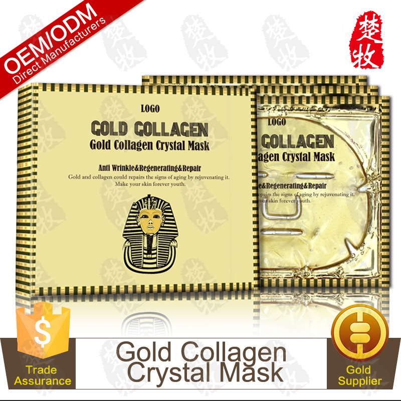 Gold Collagen Crystal Facial Mask Anti Aging Hydrating Face Mask 3 Packs Our Design On Sale