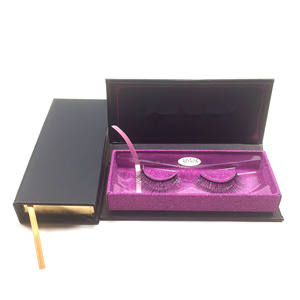 Create your own brand 3d mink eyelashes false silk synthetic eye lashes with custom packaging box