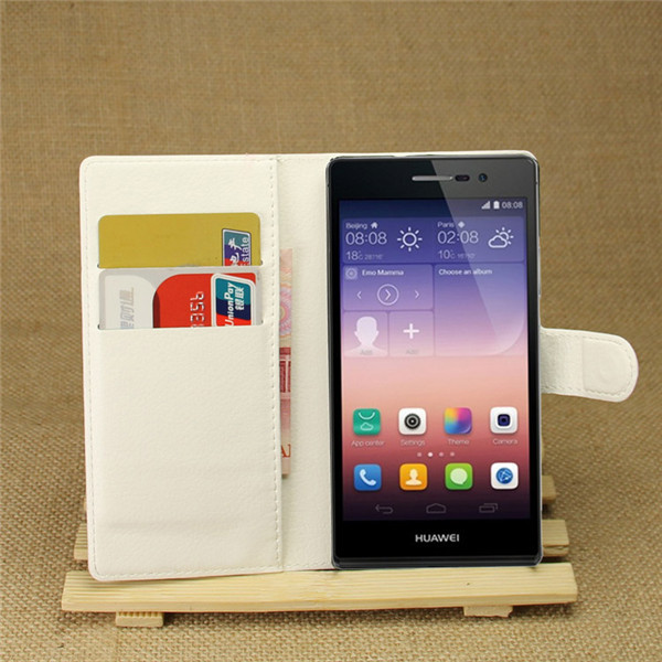 Hot selling leather case for Huawei Ascend P7 Leather Mobile phone flip cover case for Huawei Ascend P7