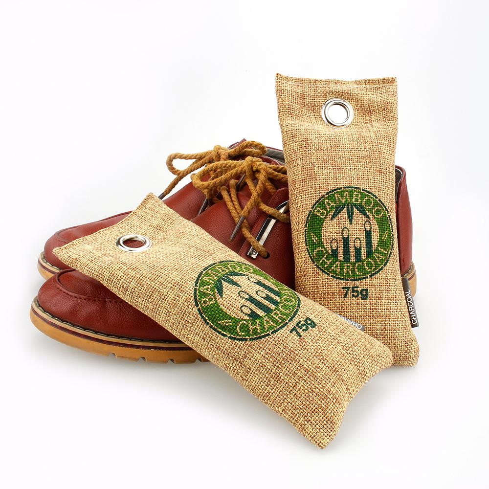 Enlève les chaussures odeur de moisi Bambou Charbon De Bois sèche-chaussures inserts Désodorisant