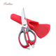 Chinese Cheap Price Stainless Steel Multi-function Laser Kitchen Scissors with Magnet Case