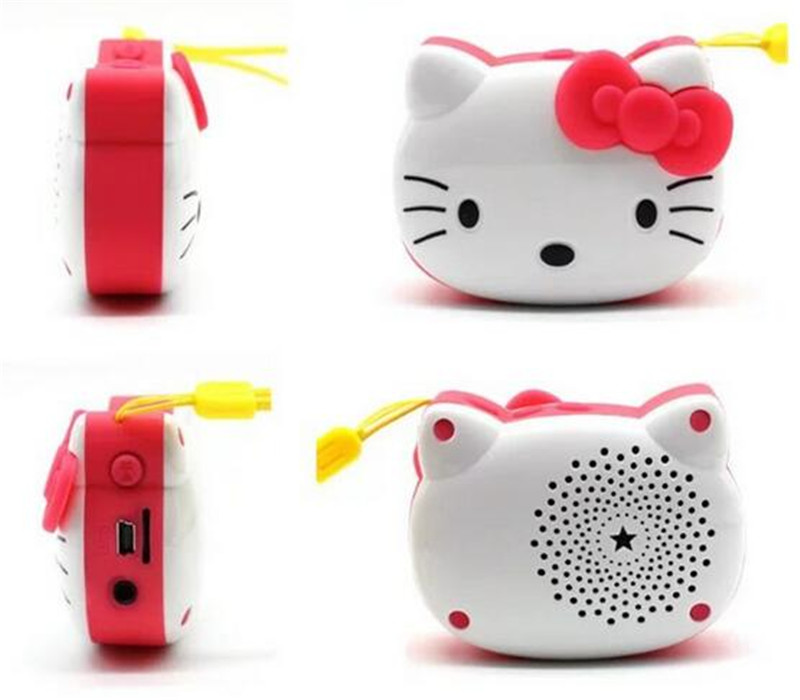 Hello Kitty cartoon Portable Bluetooth V2.1 Speaker support TF card with super bass