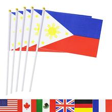 Philippinen Stick Flagge Hand Kleine Filipino Nationalen Fahnen Auf Stick, Internationalen Welt Land Stick Fahnen Banner