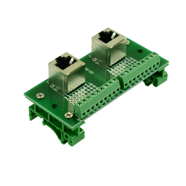 Terminal Block RJ45 8P8C Vertical Shielded Jack Breakout Board Connector x1