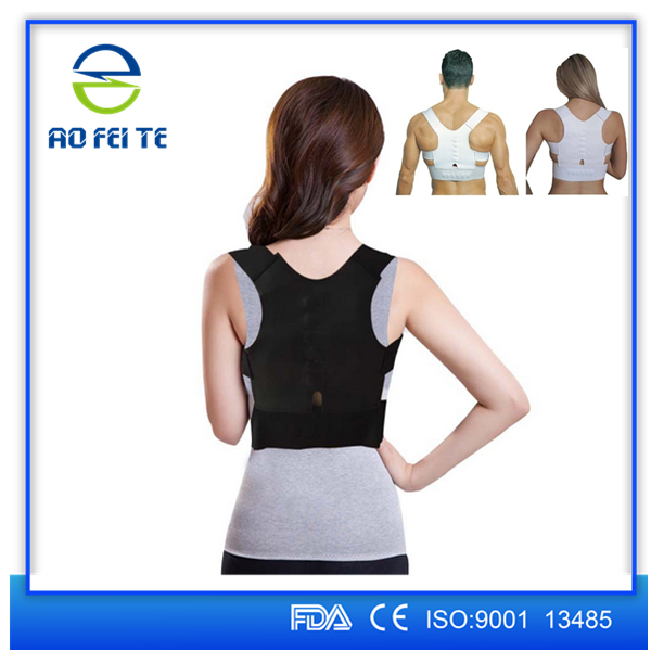 New products 2017 CE&FDA approved unisex tourmaline&magnetic clavicle orthopedic heated shoulder back straps