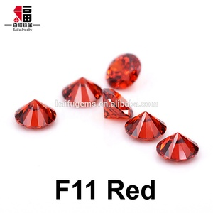 High Quality Brilliant Cut Garnet Synthetic Stones loose red cubic zirconia Price for Jewelry