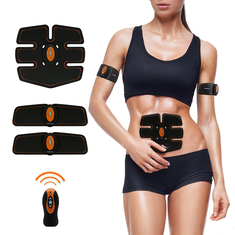 Hot Selling 2017 Amazon High-quality Rechargeable ABS Abdominal Muscle Stimulator Remote Control Slimming Belt Massager