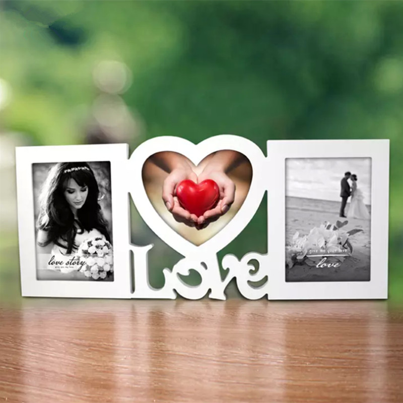 Sweet Love Photo Frame New Models Red Heart Shape Wood Photo Frame