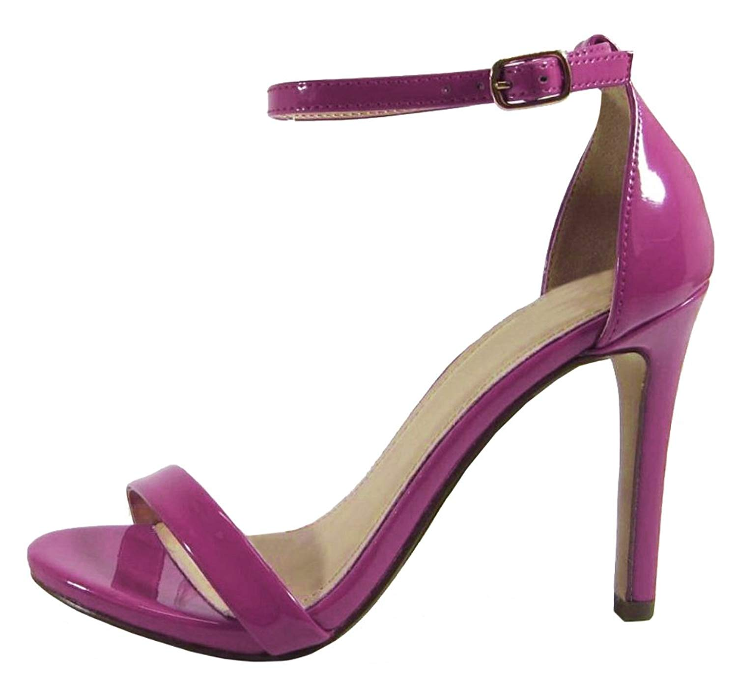 71f5cf9e3c60 Get Quotations · Cambridge Select Women s Open Toe Single Band Buckled  Ankle Strap Single Band Buckled Ankle Strap Stiletto
