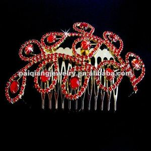 indian wedding red diamond crown yiwu wholesale
