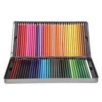 Concise Tin box pack 72 colors round color pencil set