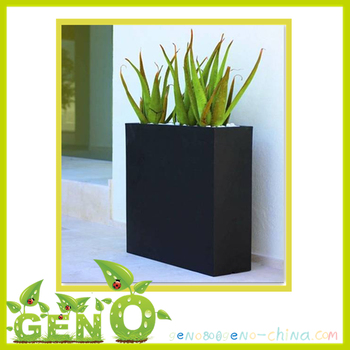 Narrow Side Singular Fibergl Flower Pot Wall Mounted Plant Planter
