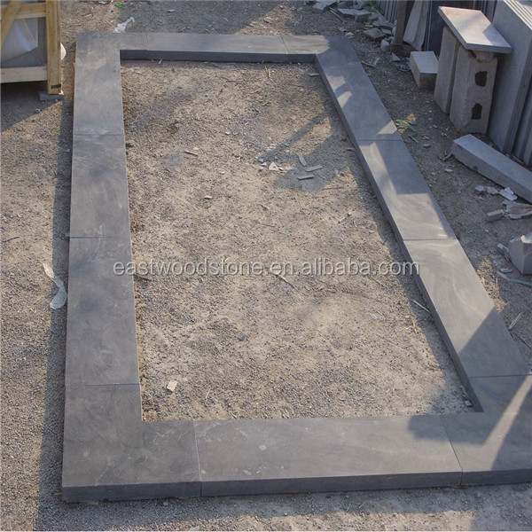 Limestone stone coping for swimming pool