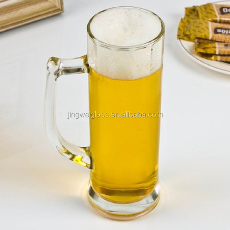 Hot sale pub beer glasses frankfurt beer mug with handle