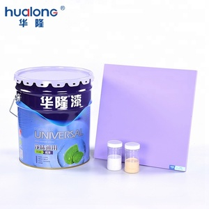 Nano House Waterproof Bedroom Design Protection Film Interior Wall Paint with Color Chart