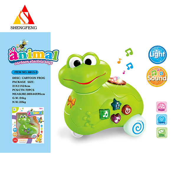 Funny electric b/o frog toys wiht music and lighting toy