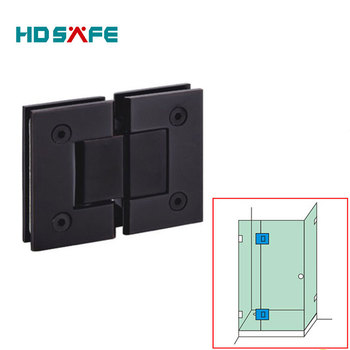 Glass To Glass 180 Degree Black Bronze Finished Glass Shower Door