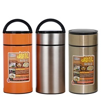 Double Wall Thermal Stainless Steel Insulated Vacuum Food Flask Thermos Food Grade Pet Jar Warmer Container