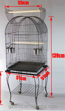 20-Inch Open and Close Dome Plays Top Parrot Lovebird Cockatiel Cockatiels Parakeets Cage with Stand, Black Vein