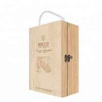 Unfinished Wooden Wine Box- Holds 2 Bottles of Wine