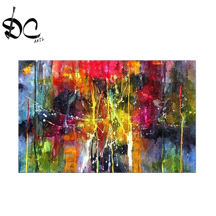 Modern abstract oil paintings on canvas wall art <strong>pictures</strong> for living room home decoration