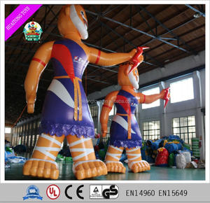 PVC giant inflatable cartoon character yellow cartoon characters for advertisement