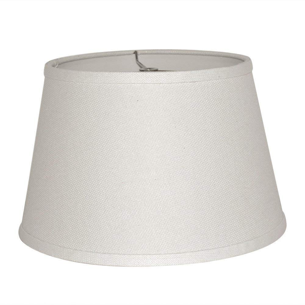 """Tootoo Star 9x12x8"""" Fabric Natural Linen Cone Barrel Hand Crafted Medium White Lamp Shade Medium Lampshade for Floor Table Lamp,Spider"""