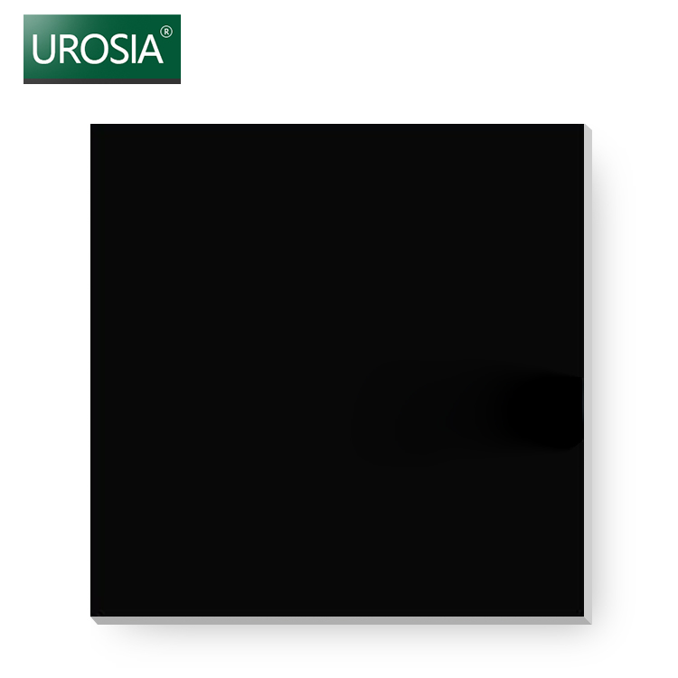 bedroom interior gloss black ceramic wall floor tile best quality house decor glossy sparkly Black polished porcelain tile