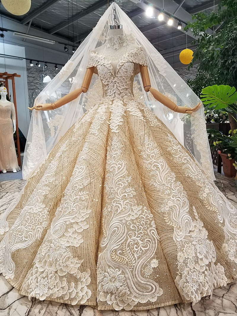 Empress Portrain Sleeves Pakistani Bridal Ball Gown Guipure Lace Fabric  Princess Cut Wedding Dresses Dubai , Buy Princess Cut Wedding  Dresses,Guipure