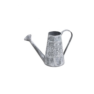 SGS garden zinc galvanized metal decorative custom Flower Pots watering cans wholesale