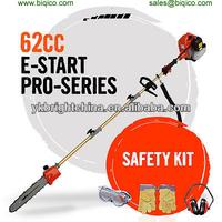 new 62cc Long Reach Pole Chainsaw Pruner Petrol Chain Saw Brush Tree cutter