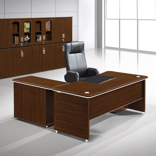 New Arrival Modern L Type Teak Wood Executive Desk for CEO Office