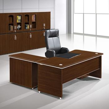 New arrival modern l type teak wood executive desk for ceo - Escritorios de madera para oficina ...