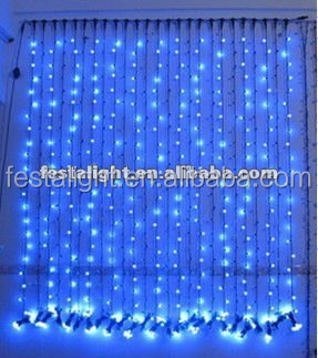 Christmas Decoration Blue Led Curtain Light - Buy Led Curtain ...