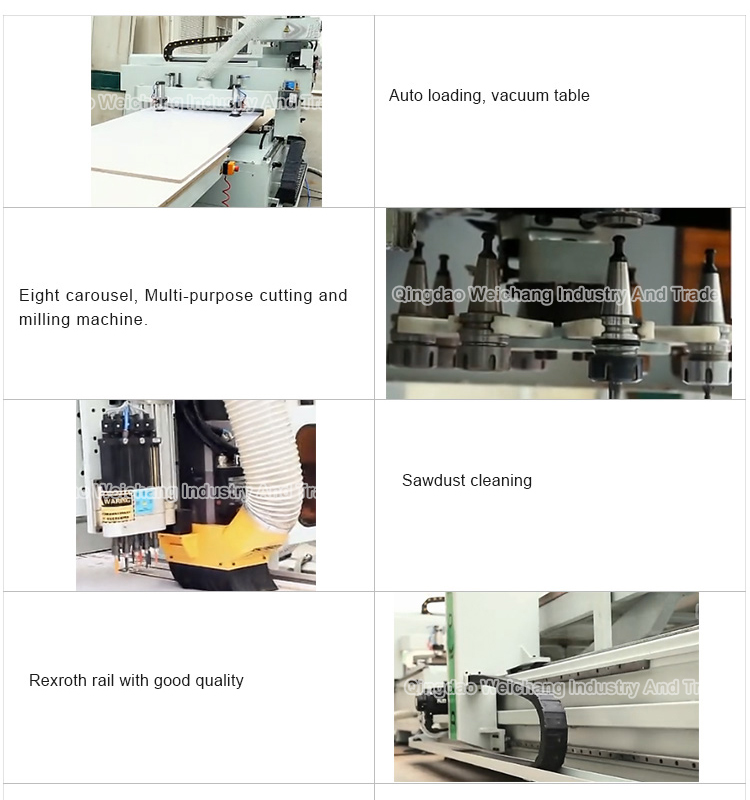 Auto multi head cnc router cnc wood cutting router carving machine