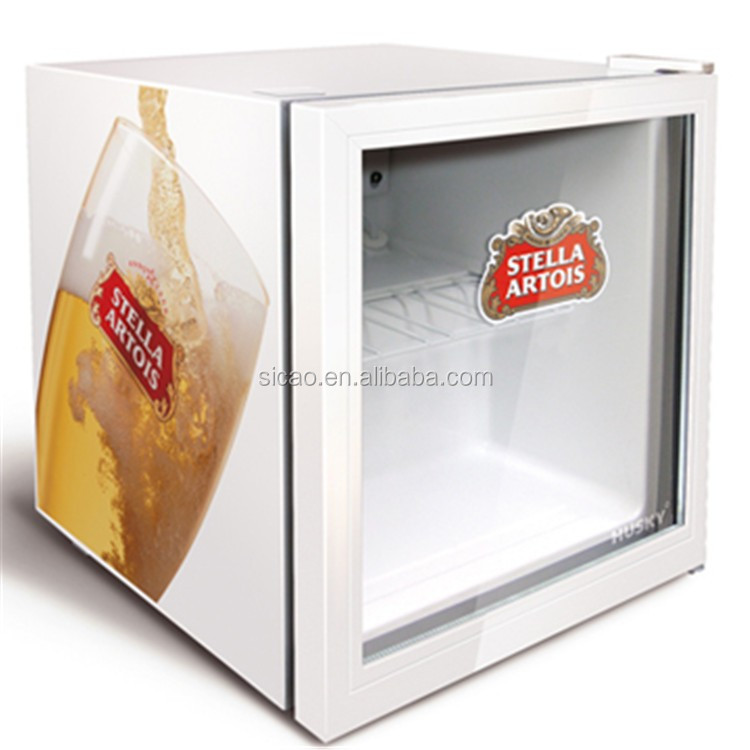 46l table fridge novelty can holder glass door mini