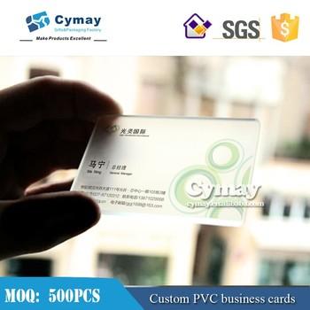 Pvc Transparent Cardthick Plastic Business Cards Buy Pvc