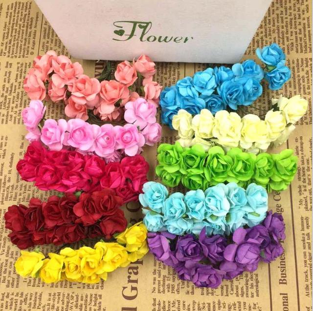 China mini paper rose flower wholesale alibaba mini paper rose flower bouquet for wedding decoration mightylinksfo