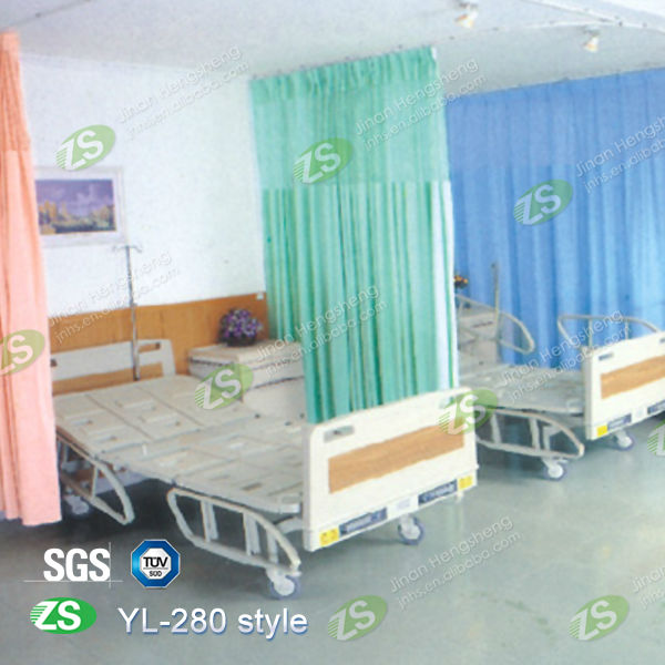 Wholesale Blue Bed Cubicle Partition Medical Curtain Antibacterial Hospital  Curtain In Jinan